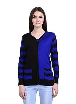 eWools Women Winter Wear Woolen Zipper Cardigan