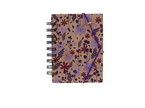 Country Cottage Hardback Medium Notebook - Purple, Pink, Blue and Green Blue Hardback