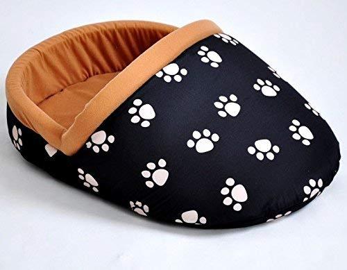 nanook Hundebett/Katzenbett/Pantoffelbett Blackshoe - Gr. S - 52 x 32 cm - schwarz - für Hunde und Katzen mit Faible für Schuhe