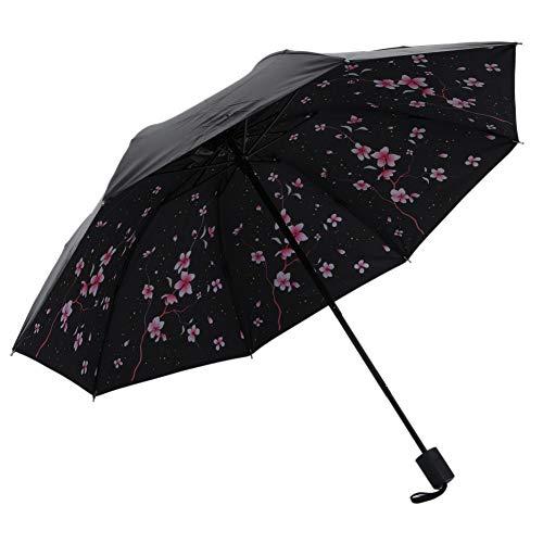 SHILILI New Umbrella 100X65Cm Cherry Shade Manuell 3 Taschenschirm Frauen Vinyl Sun Change Umbrella Nach Dem Regen Regen Werkzeuge