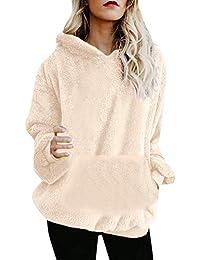 Mujer Caliente y Esponjoso Tops Chaqueta Suéter Abrigo Jersey Mujer  Otoño-Invierno Talla Grande Hoodie 68d662f5d085