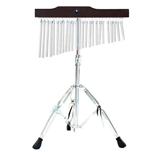 Bar Chimes Percussion Instruments, 25/36 einreihiges Windspiel-Musikpercussion-Instrument mit Stativ inklusive Memory Lock für Anfänger/Orchester(25)