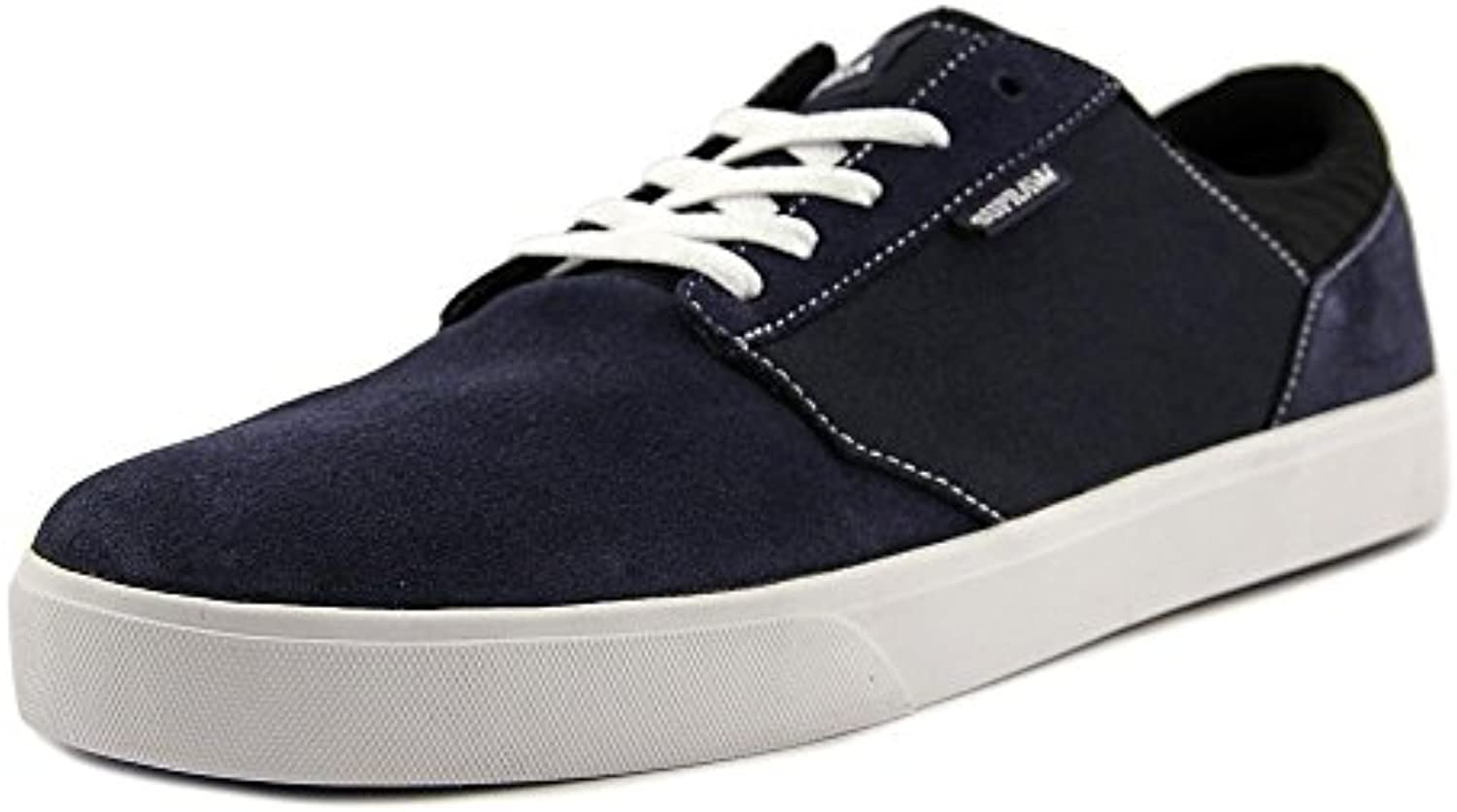 Supra Mens Yorek Low Navy White Skate Shoes