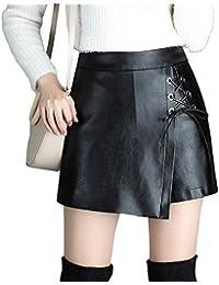 E-girl FS6889 Damen Pu Leder Große Größe Kurz Mini Röcke Club Rock 4906052e4d