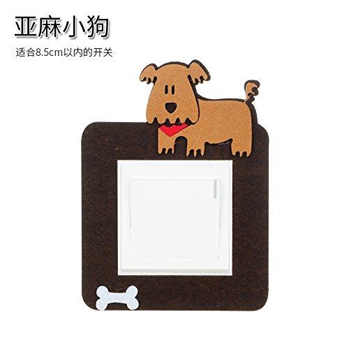 GOUZI Kreative Cartoon fühlte sich einschalten, die Bettwäsche hund Wall Sticker abnehmbare Wall Sticker für Schlafzimmer Wohnzimmer Hintergrund Wand Bad Studie Friseur