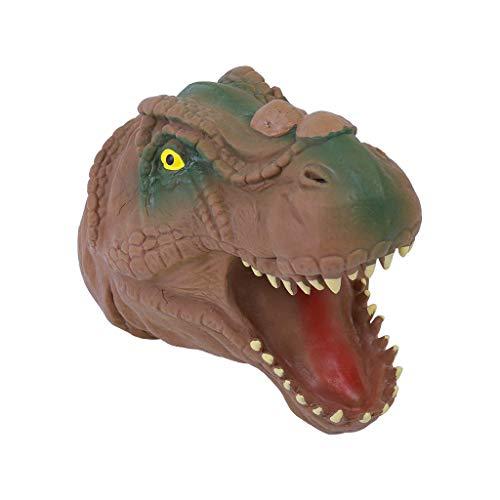CUEYU Dinosaurier Weiche Handpuppe Baby Infant Kid Spielzeug Für Kiefer Kuchen Dekoration Topper,15x10x10cm (Braun) (Kiefer-kuchen)
