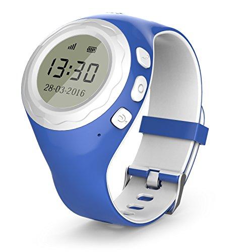 Pingonaut Kidswatch – Kinder GPS Telefon-Uhr, SOS Smartwatch mit Ortung, Tracker & Phone - Tracking App, Deutsche Software, Blau (Uhr-handy Android Gsm)