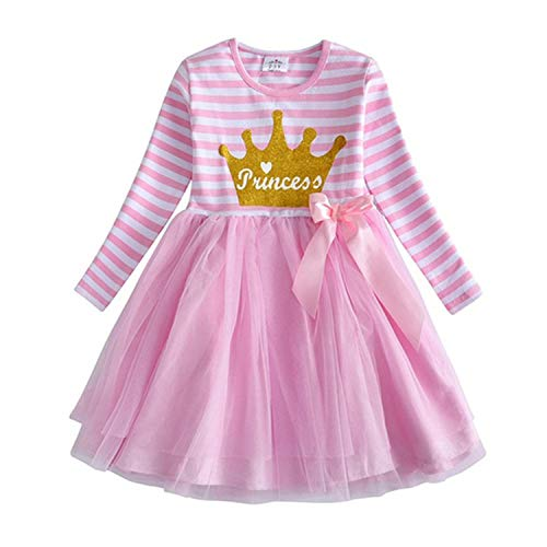 HOTSTREE Brand Girls Unicorn Dress Girls Sequined Vestidos Kids Party Casual Tutu Dress Children Licorne Autumn and Winter Dresses Purple 8T
