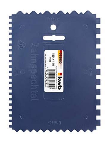 KWB Kunststoff-Zahnspachtel, 032900 (4-seitig gezahnt, 180 x 140 mm) - Künstler Tools Malen