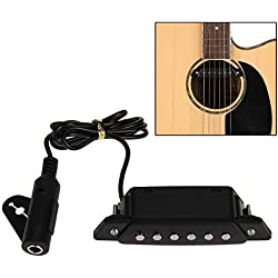 Pastilla de Guitarra Acústica - Foxpic Negro - Pick-up - Active Power Jack