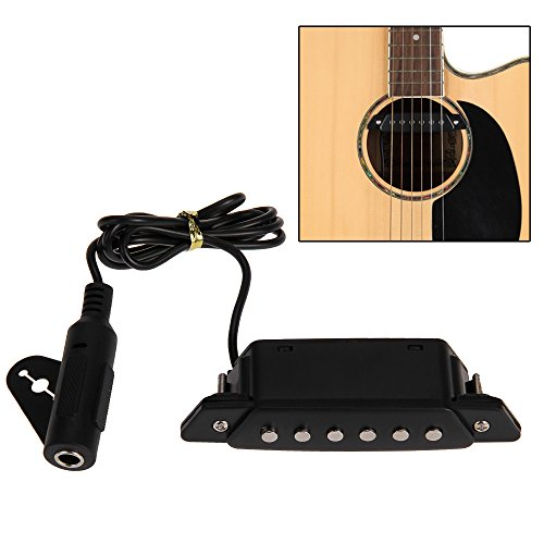 Foxpic Negro Sonido Agujero Pick-up Pickup Pastilla con Active Power Jack