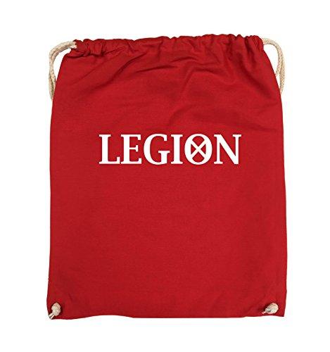 Borse Da Commedia - Legion - Logo2 - Borsa Da Giro - 37x46cm - Colore: Nero / Argento Rosso / Bianco