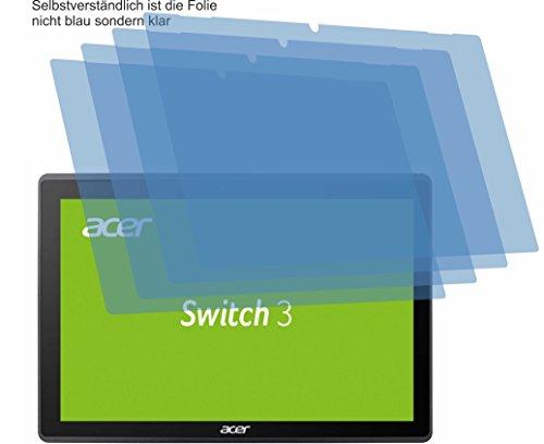 4ProTec 4X Crystal Clear klar Schutzfolie für Acer Switch 3 SW312-31 Bildschirmschutzfolie Displayschutzfolie Schutzhülle Bildschirmschutz Bildschirmfolie Folie