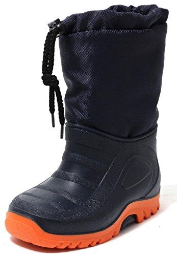 Zapato Kinder Stiefel Schneestiefel Snowboot Duck Boot Winterstiefel Gr.23-30 Warm Wasserdicht Gummi Galosche und Alu Isolierung Navy Blau/Orange (29/30) (Herren-duck-stiefel)
