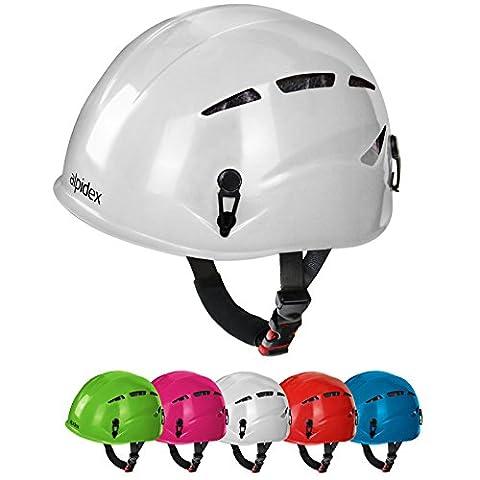 Casque d'escalade et d'alpinisme universel pour les enfants ARGALI KID en beaucoup couleurs modernes de Alpidex, Couleur:bright white