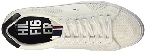 Tommy Hilfiger J2285ONAS 1D, Chaussons homme Blanc