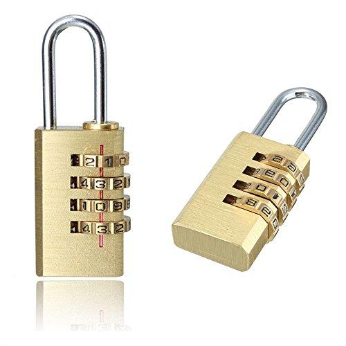 MAXGOODS 2 x Candados de Seguridad Dígitos Combinación Código Secre