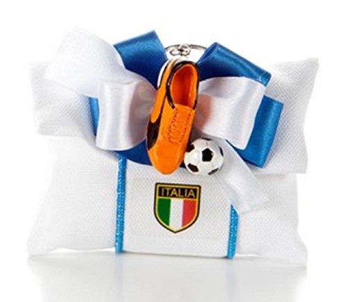 Bomboniera con confetti, comunione portachiavi scarpette calcio colori assortiti (blu,arancio,giallo,fucsia) pochette con confetti (per urgenze provare a contattare il venditore)