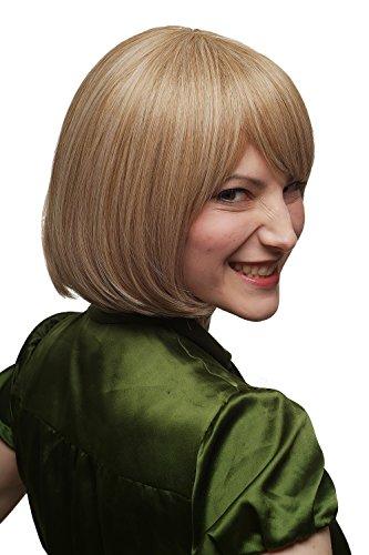 WIG ME UP ® - Perruque dame carré classique avec pointes recourbées mèches blond clair/foncé SA041-27/613