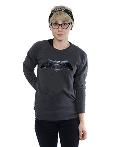 DC Comics Femme Batman v Superman Logo Sweat-Shirt foncé