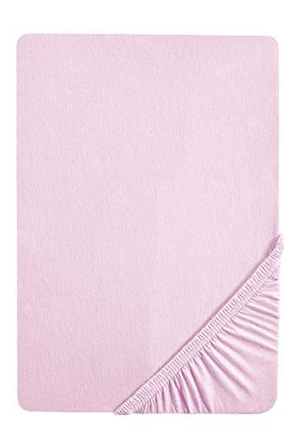 Biberna 77144/555/046, Sábana bajera ajustable elástica, Rosa (flieder), 90 x 190 cm...
