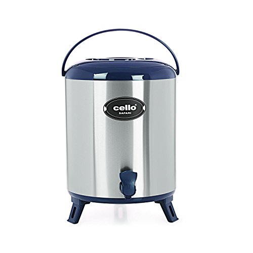 Cello Safari Stainless Steel Jug, 10 Litres, Blue
