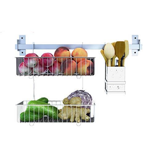Zweiteilige Küche Rack 304 Edelstahl Ablauf Vertikale Stäbchen Käfig Doppel Hängenden Korb Wand-montiert Multi-Funktion Home Storage CHENGYI -