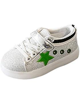 Igemy 1 Paar Baby Mode Sneaker LED Leuchtender Stern Kind Kleinkind beiläufige bunte helle Schuhe