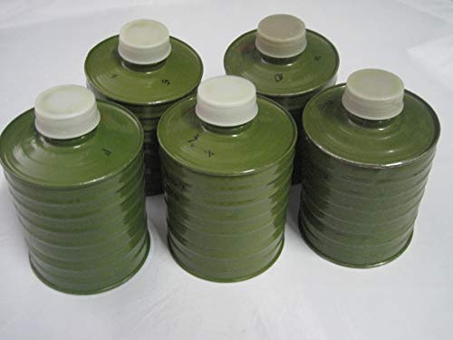 NVA 5 STK Gasmasken-Filter Aktiv-Kohle Filter Poppers Gummi-Latex (Kohle-aktiv-filter)