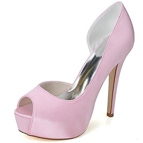 Women Heel Pump Shoes Sandal High-Heel Simple, Rose, US9.5-10/EU41/UK7.5-8