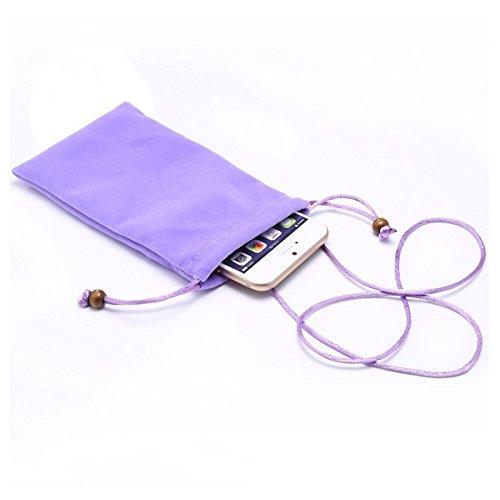 wkae Schutzhülle Case & Cover Universal Freizeit Baumwolle Flock Stoff Tragetasche mit Kordel für iPhone 6/Samsung Galaxy S6/S5/G900/S IV/i9500/SIII/i9300 S-IP6G-0526N