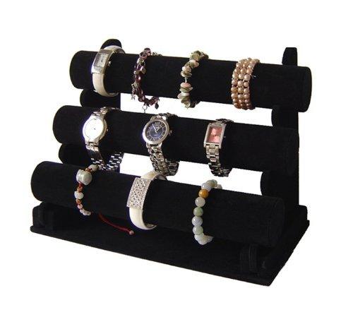 3er Schmuckständer für Uhren Armband Samt (Armband Velour)