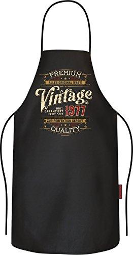 Das Geschenk zum 40. Geburtstag: Vintage, garantiert echt seit 1977 Original RAHMENLOS® BBQ Grillschürze: 6165