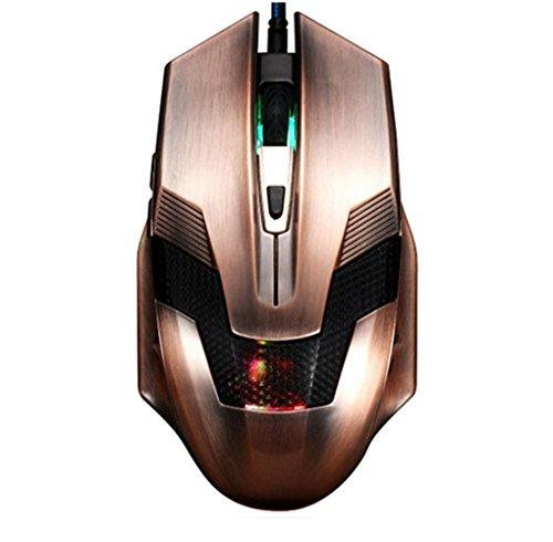 Preisvergleich Produktbild Sojewe Kupfer Designed für Spiel Stimulate Gaming Mäuse 6D Nepalese Cashmere Rope Magnetic Hoch-End USB Verdrahtet Plus-GewichtErgonomisch Mouse