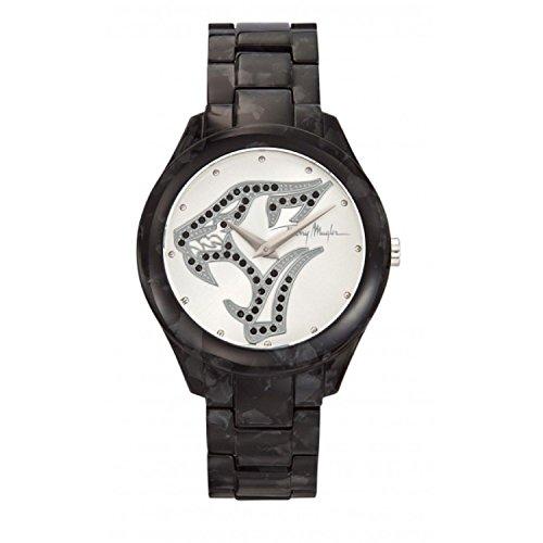 Thierry Mugler - 4716404 - Montre Femme - Quartz Analogique - Cadran - Bracelet Plastique Noir