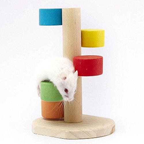 hellodd Pet Entartrage échelle en bois jouet jeu pour hamster coloré