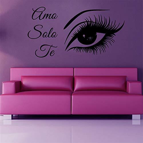 lyclff Wandtattoos Mädchen Amo Solo Te Eye Menschen Vinyl Aufkleber WandbilderWanddekor 57 * 108cm