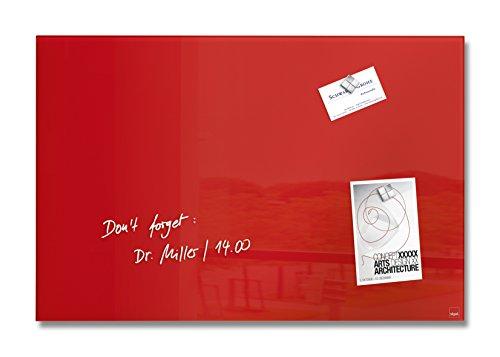 SIGEL GL122 Glas-Magnetboard 60 x 40 cm rot / Magnettafel Artverum - weitere Größen/Farben (Rote Gläser Großhandel)