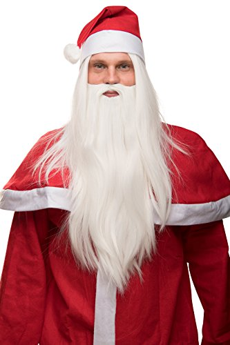 �tze Weihnachtsmann Nikolaus Santa Claus glatt Weihnachten weiß (Santa-mützen)