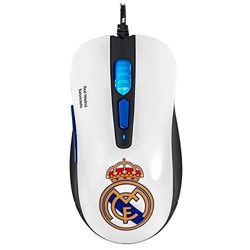 Mars Gaming MMRM - Ratón del Real Madrid para PC - Óptico, 6 botones, 3200 DPI