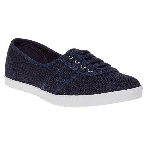 Fred Perry Aubrey Canvas Damen Sneaker Blau Blau