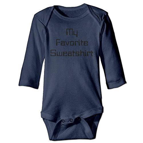 MSGDF Unisex Infant Bodysuits Customizable Favorite Girls Babysuit Long Sleeve Jumpsuit Sunsuit Outfit Navy Favorite Short-sleeve Bodysuit