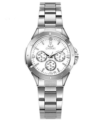 Hot Fashion Quartz WristWatch Women Quartz Wrist Watches lady quartz watch-white (Womens Importiert White)