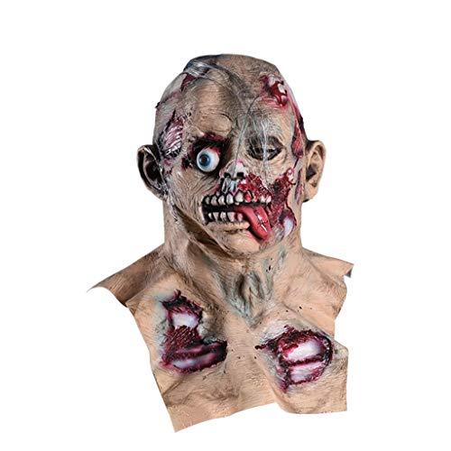 TIREOW_Halloween Cosplay Beängstigend Schreckliche Maske, Schmelzendes Gesicht Latex Masken Kostüm Maskerade Spielen Witze - Wirklich Beängstigend Kostüm Kinder