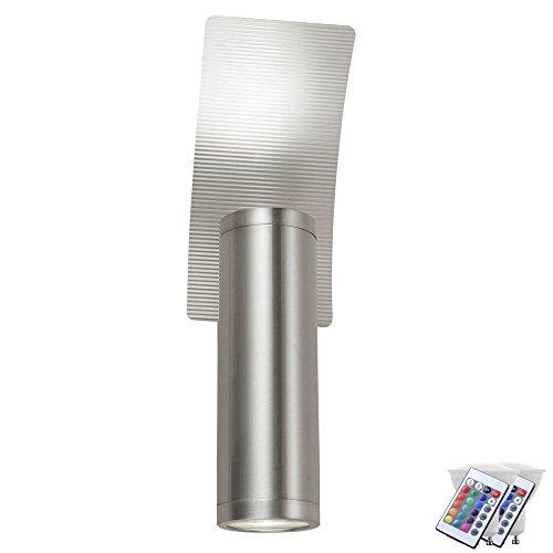 Apparecchio a parete telecomando illuminazione esterna nel set tra cui sorgente luminosa RGB LED