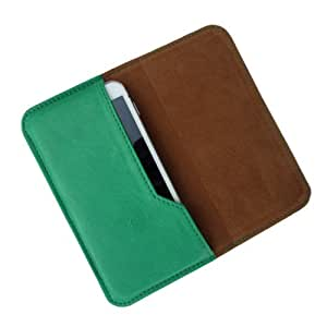 i-KitPit : PU Leather Flip Pouch Case Cover For Lava iris 501 (GREEN)