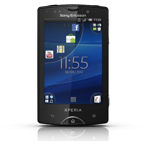 Sony Ericsson Xperia mini pro Smartphone (7,6 cm (3 Zoll) Display, QWERTZ-Tastatur, Touchscreen, 5 MP Kamera, Android 2.3 OS) schwarz