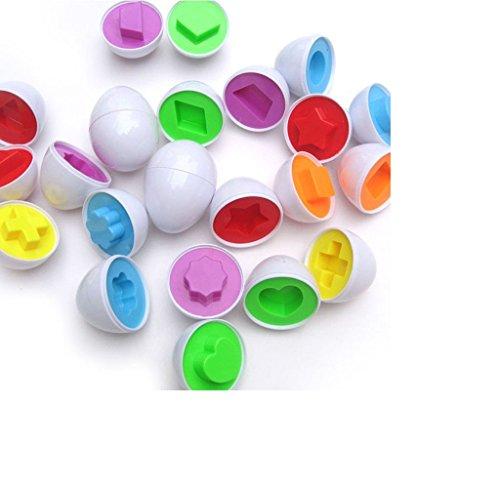 Eier Spielzeug Rollenspiel Eier,Amcool 6pc Gemischt Gestalten Weise So tun als ob Puzzle Intelligente Eier Baby Kind Lernen Spielzeug