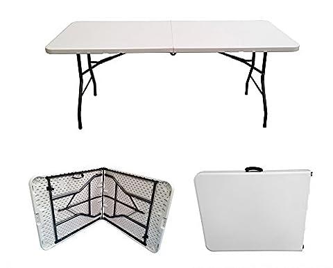 6ft Folding Table - Rectangular - Super Tough, Folds in