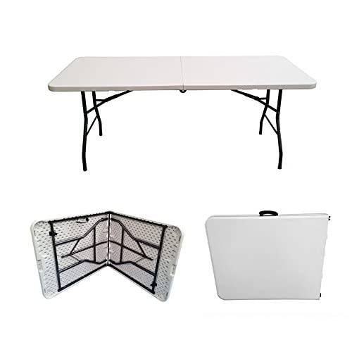 41WBOQo0bFL. SS500  - 6ft Folding Table - Rectangular - Super Tough, Folds in Half with Carry Handle, by Folding Tables UK